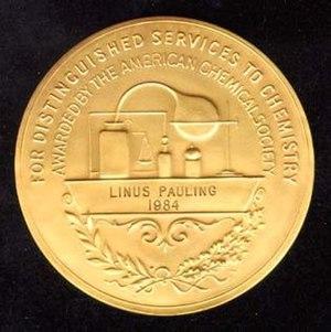 Priestley Medal - Priestley Medal reverse (awarded to Linus Pauling in 1984)