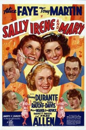 Sally, Irene and Mary (1938 film) - Theatrical release poster