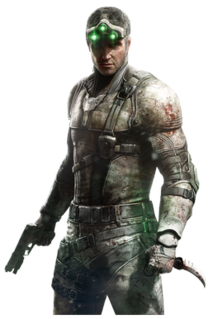 """Sam Fisher (<i>Splinter Cell</i>) Fictional character in the videogame and novel series """"Tom Clancy's Splinter Cell"""""""