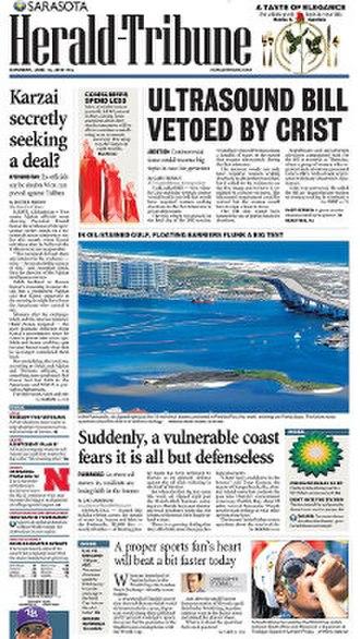 Sarasota Herald-Tribune - Image: Sarasota Herald Tribune front page