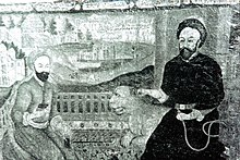 Shaykh bahaey (right) and Mirfendereski