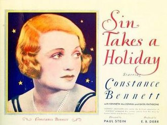 Sin Takes a Holiday - Film Poster