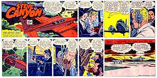 <i>Steve Canyon</i> American comic strip by Milton Caniff