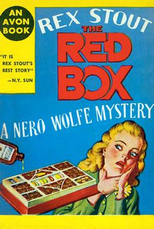 The Red Box - The 1946 Avon paperback reissue of The Red Box drew the attention of The New Yorker, which listed 17 instances of Wolfe's finger-wiggling (September 28, 1946)