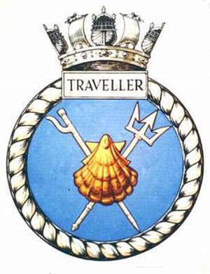HMS Traveller (N48) - Image: TRAVELLER badge 1