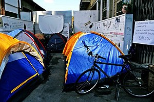 Occupy Buffer Zone - Image: Tents occupybufferzone 2