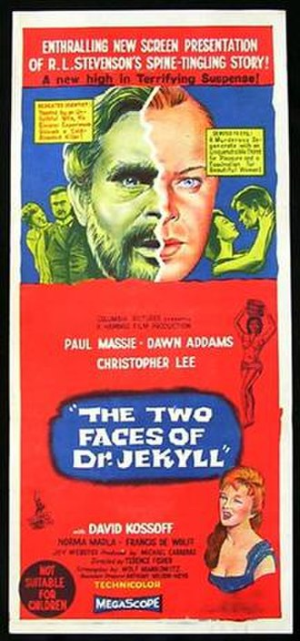 The Two Faces of Dr. Jekyll - UK theatrical release poster