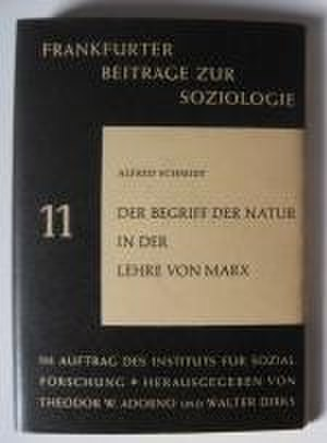 The Concept of Nature in Marx - Cover of the first edition