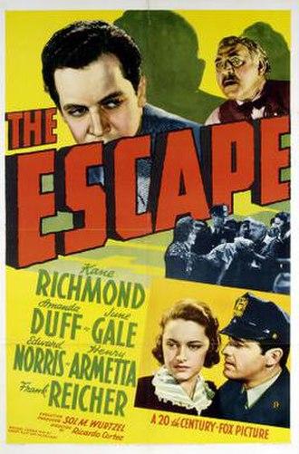 The Escape (1939 film) - Theatrical release poster