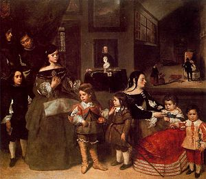Juan Bautista Martínez del Mazo - Family of the Painter, c. 1660–1665, Kunsthistorisches Museum, Vienna, Austria