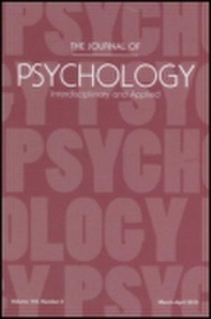 The Journal of Psychology - Image: The Journal of Psychology