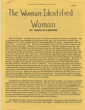 The Woman-Identified Woman - Image: The Woman Identified Woman