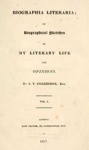 Biographia Literaria - Image: The cover of Biographia Literaria