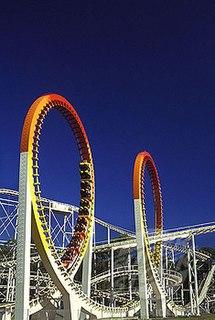 Thunderbolt (Dreamworld) steel roller coaster at the Dreamworld theme park