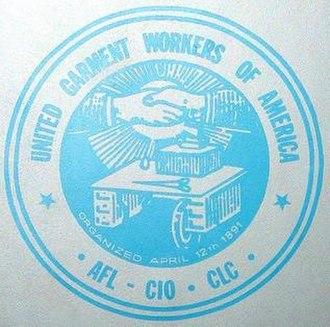 United Garment Workers of America - Image: United Garment Workers of America logo