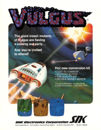 Vulgus - North American arcade flyer of Vulgus.