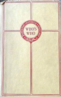 <i>Whos Who</i> (UK) British biographical dictionary