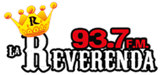 XHMET-FM - Image: XHMRI La Reverenda 93.7 logo