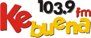 XHPO-FM - Logo with the Ke Buena format used until 2017