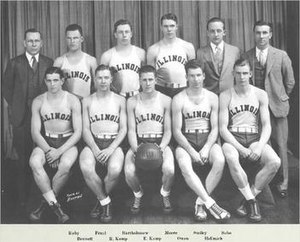 1931–32 Illinois Fighting Illini men's basketball team - Image: 1931 32 Illinois Fighting Illini men's basketball team