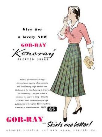 Joseph Stillitz - A 1951 Gor-Ray advertisement