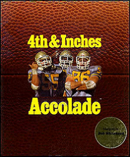 <i>4th & Inches</i> 1987 video game