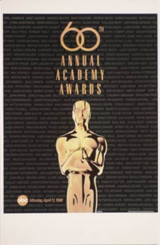 60th Academy Awards - Official poster