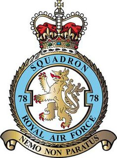 No. 78 Squadron RAF Defunct flying squadron of the Royal Air Force