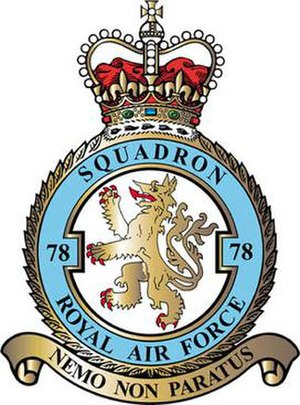 No. 78 Squadron RAF - 78 Squadron badge
