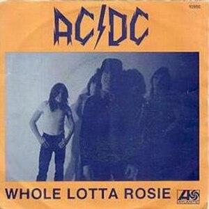 Whole Lotta Rosie - Image: AC DC wholelottarosie