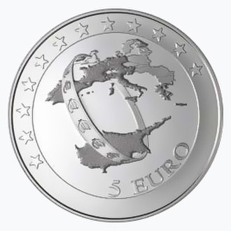Euro gold and silver commemorative coins (Cyprus) - Image: Accession of Cyprus to the euro area re