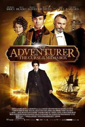 The Adventurer: The Curse of the Midas Box - Theatrical release poster