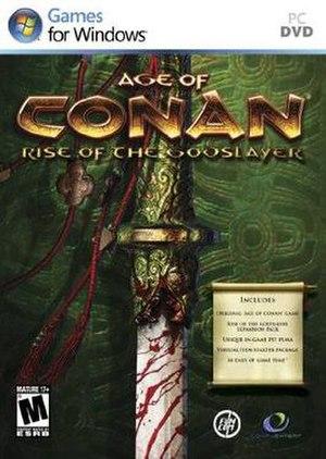 Age of Conan: Rise of the Godslayer - Image: Ao C Rot G PAL box art