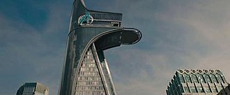 Stark Tower - Avengers Tower as depicted in Avengers: Age of Ultron.