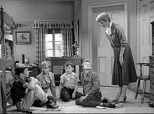 June Cleaver - June supervises the boys and their friends.