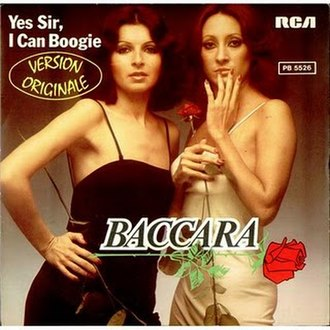 Yes Sir, I Can Boogie - Image: Baccara I Can Boogie cover