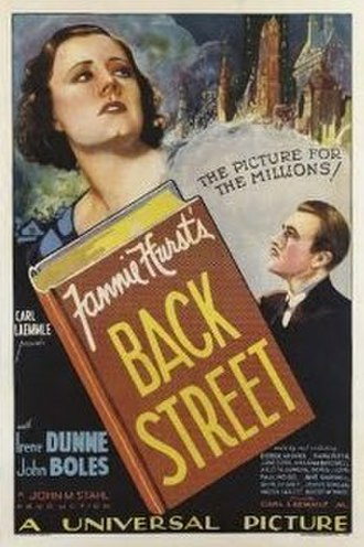 Back Street (1932 film) - Theatrical release poster