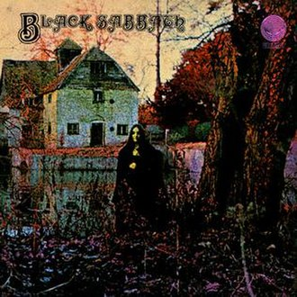 Gothic metal - Black Sabbath's self-titled debut album (1970) with its gothic cover art