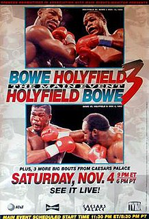 Riddick Bowe vs. Evander Holyfield III Boxing competition
