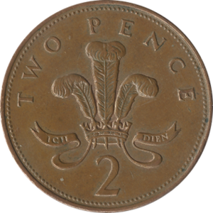 Two pence (British decimal coin) - Original reverse: 1971–2008