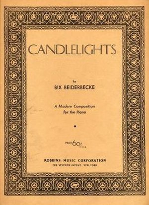 Candlelights (song) - 1930 sheet music cover, Robbins Music, New York.