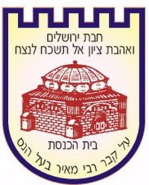 Kolel Chibas Yerushalayim - Adoration of Jerusalem and love of Zion — do not forget forever: The logo and slogan of the charity