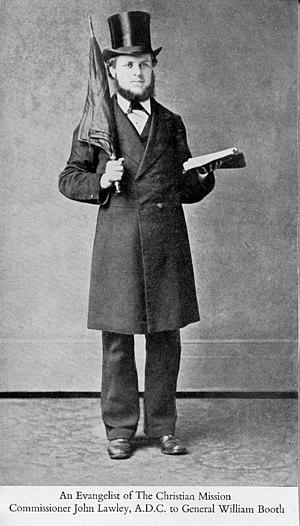 John Lawley - Lawley with his trademark umbrella (c.1877)