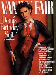 The painting/photo that made Joanne Gair famous was this August 1992 Vanity Fair nude Demi's Birthday Suit cover.