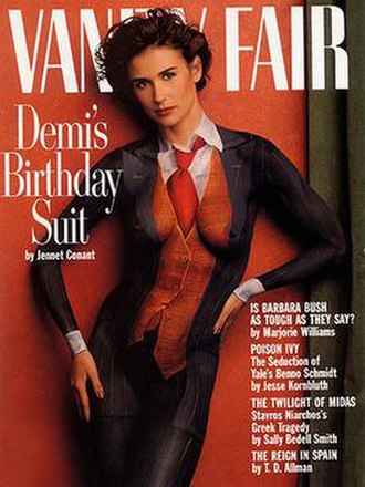 Joanne Gair - The August 1992 Vanity Fair nude Demi's Birthday Suit cover body painting/photo made Joanne Gair famous.