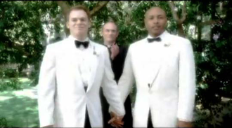 """David Fisher (Six Feet Under) - David and Keith getting married in the series finale, """"Everyone's Waiting""""."""