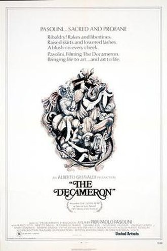 The Decameron (1971 film) - Il Decameron film poster