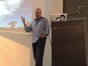 Paul Dourish - Paul Dourish making a presentation at ArtCenter College of Design in Pasadena, CA.
