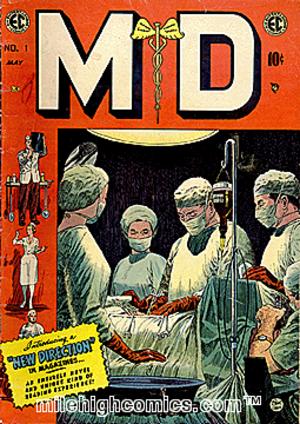 M.D. (comics) - Cover illustration by Johnny Craig