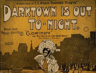 "Will Marion Cook - Playbill from 1898 showing Edward E. Rice's production of Cook's Clorindy, featuring the song ""Darktown is Out Tonight"""